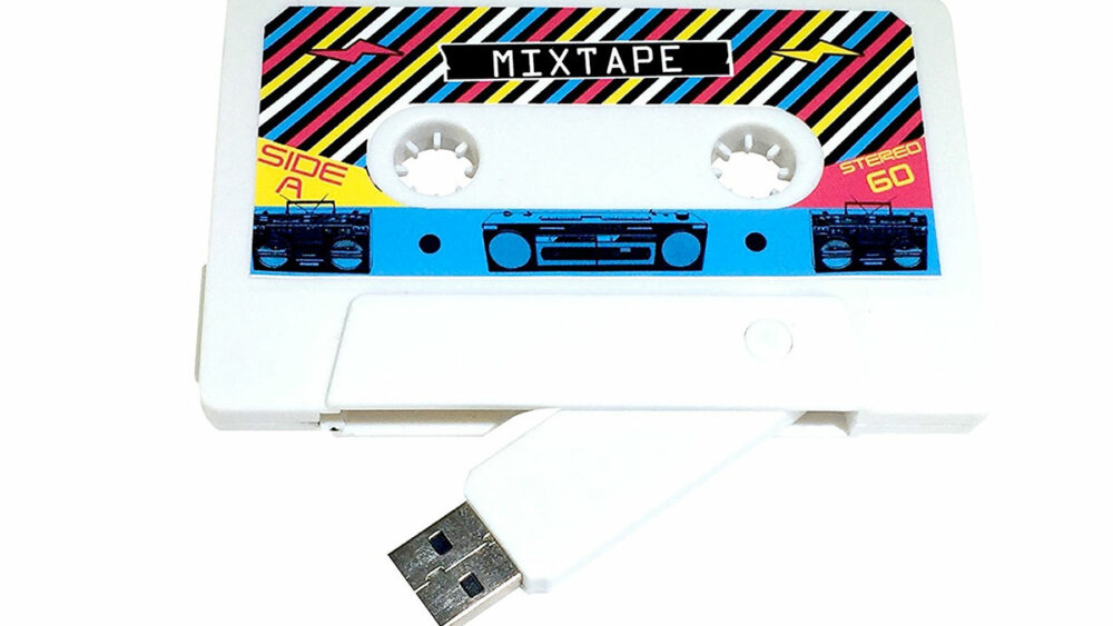 If you don't know what to gift your partner, this USB drive disguised as an old-school mixtape is sure to make them feel like your 90s sweetheart.