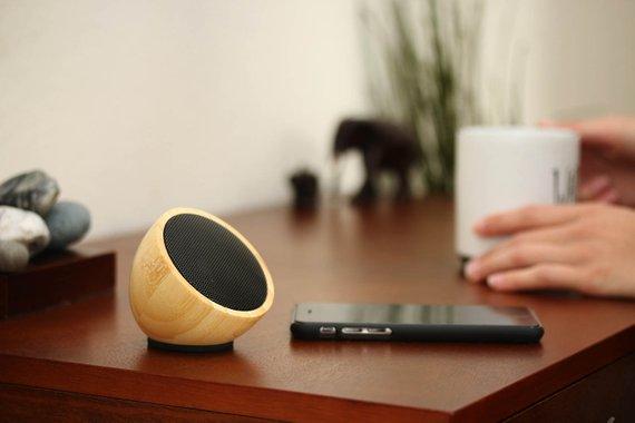 Acoustic Acorn Bamboo Speaker