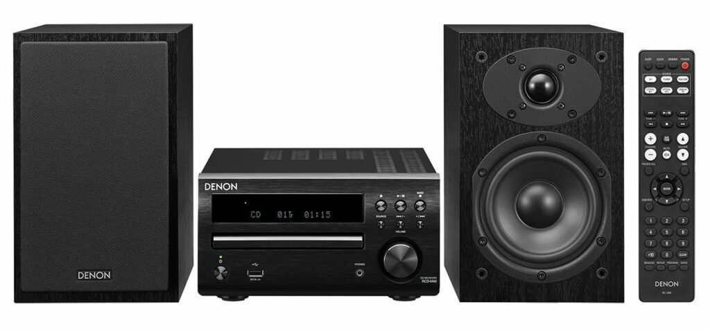 the Denon D-M40 is one of the best compact stereos we've found.
