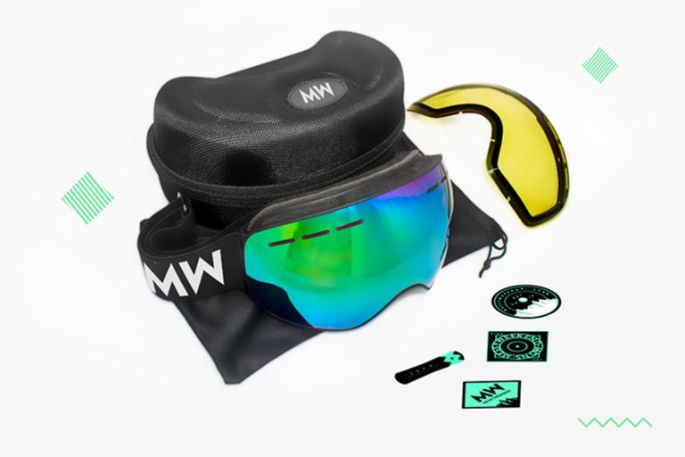 kickstarter ski goggles