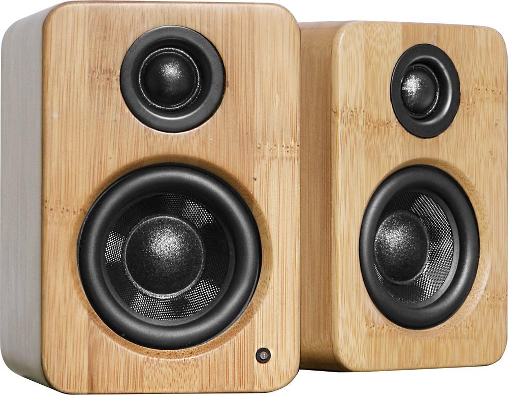 Kanto Bamboo Desktop Speakers