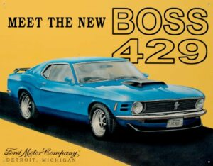 This Vintage Mustang Tin Sign is one of the best mustang memorabilia we've found.