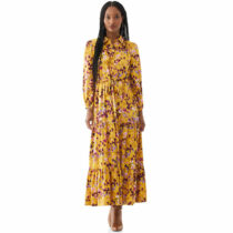 scoop women's printed maxi shirt dress